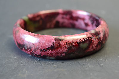 Collectible China Culture Classical Old Natural Jade Bracelet Girl Decor