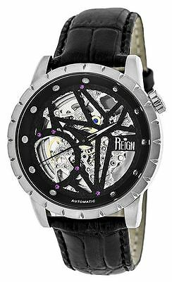 Reign Mens Xavier Automatic Skeleton Dial Crocodile-Embossed Leather : REIRN3902