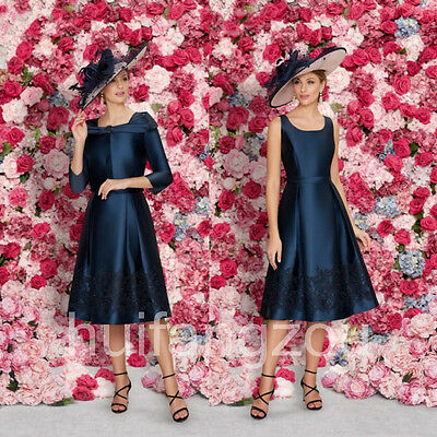 Navy Blue Elegant Formal Mother Of the Bride Dresses Party Gowns Evening Dress