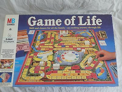 Vintage MB Game of Life Board Game VGC 1984