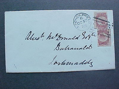 Scotland: Lochgilphead 1875 Cover, 2 1/2d Stamps