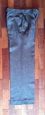 """1970s Mens Trousers/ Flares in Mock Tweed. W: 30-32""""/ I.L 31.5"""". Costume Grade"""
