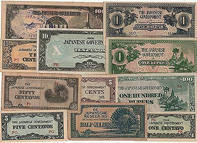 Japanese Ww2 Occupation Banknotes, (11).