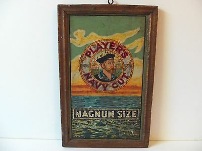 Old Navy Sailor Tin Sign Advertising Tin Antique Vintage Picture Frame Nautical