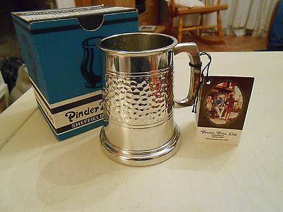 Vintage Pinder Bros. Polished Pewter Tankard In Original Box + Certficate   (H)