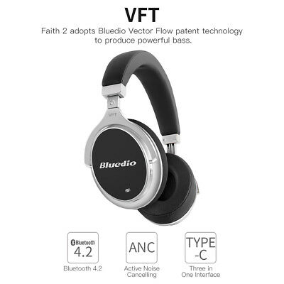 Bluedio F2 Bluetooth 4.2 Active Noise Cancelling Wireless Headpones Mic Headsets