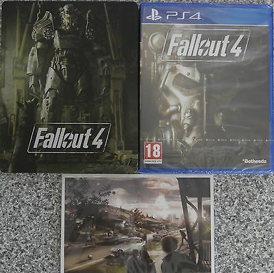 Fallout 4 + Steelbook & Postcards For PAL PS4 (New & Sealed)