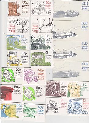 Mint Face Value £18.10  Stamps  In  Folded   Booklets