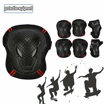 Kids Youth Skate Cycling Roller 6pcs Wrist Knee Elbow Safety Pads Gear Sports