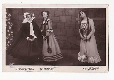 Rotary Real Photo Postcard Muriel George Gwennie Mars In Faust #7449D 1909