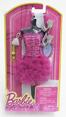 Mattel BLT12 Barbie Fashions Outfit and Accessories for Doll - PINK RUFFLES