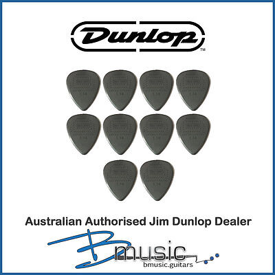 10 x Jim Dunlop 1.14mm Max-Grip™ Nylon Standard Plectrums