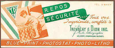 PHOTOGRAPHY, TREMBLAY & DION INC, QUEBEC: Scarce CANADIAN Ink Blotter (1950)