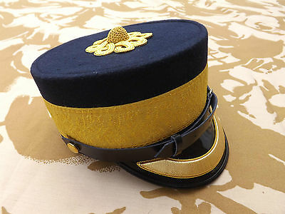 Repro British Royal Engineers Officers 1880 patt Forage cap Gold peak Size 60cm