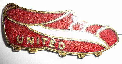 Old  (C L)  Manchester  United  Football  Club  Enamel  Badge