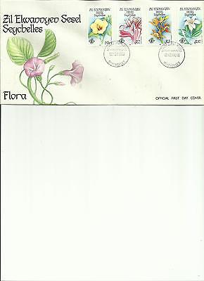 Seychelles - Coral Formations + Flora - 2 Fdc's
