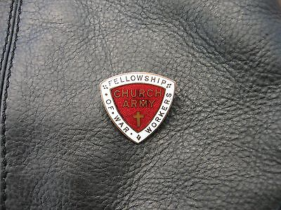 Vintage Church Army Fellowship Of War Workers Lapel Buttonhole Badge.fattorini.