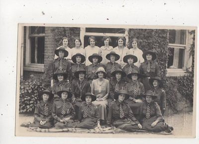 Girl Guides Vintage RP Postcard Pannell Haywards Heath