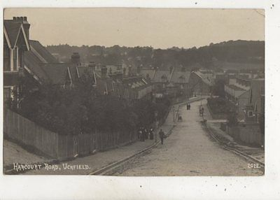 Harcourt Road Uckfield Sussex 1914 RP Postcard