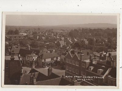 View From Church Tower Hailsham Sussex Vintage RP Postcard