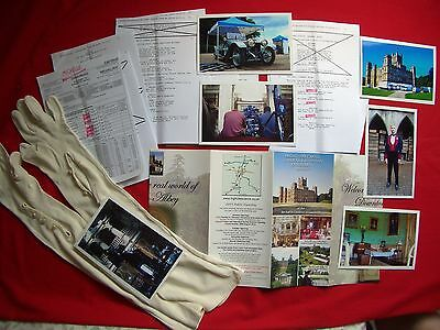Downton Abbey Script Pages Prop Evening Gloves + Call Sheet TV Film Movie - RARE