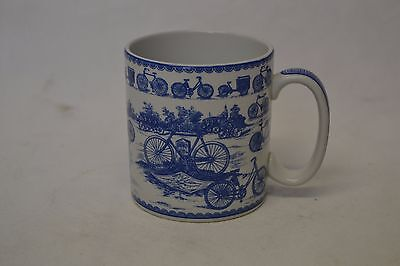 Spode Blue and White Cycling Mug - 2035