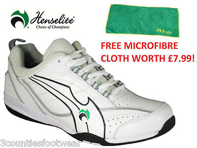 Mens HENSELITE BLADE 34 Lawn Bowl Trainers  - WHITE
