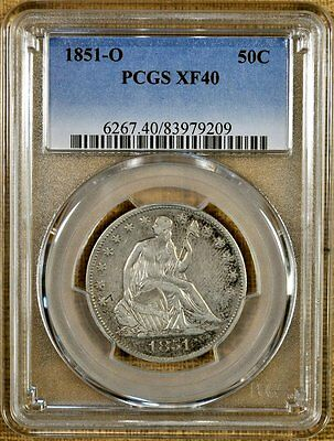 1851-O PCGS XF40 Seated Half Dollar - Better Date