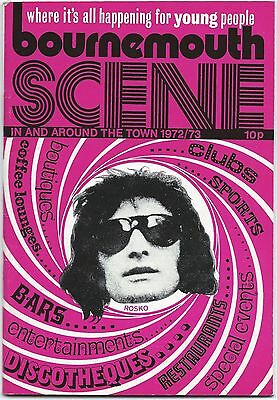 BOURNEMOUTH SCENE What's On Young People 1972-3 Disco Illustrated Guide 42 pages