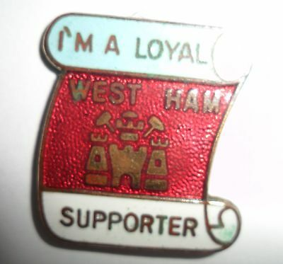 Old  (P & G)  West  Ham  United  Football  Club  Enamel  Badge