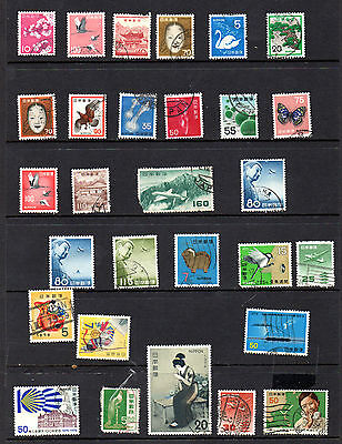 Japan - stock book page of used stamps (2057)