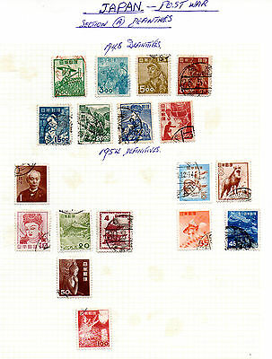 Japan - 1948 and 1954 - page of used stamps (2056)