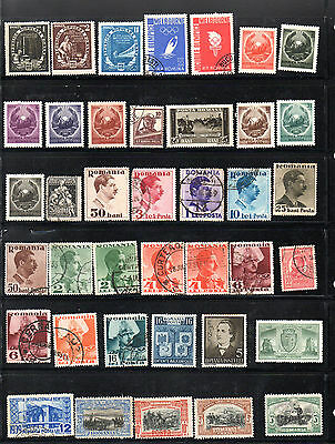 Romania - Stock book page of mint and used stamps (2020)