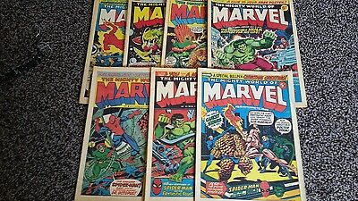 7 Issues of The Marvel Comic 1972