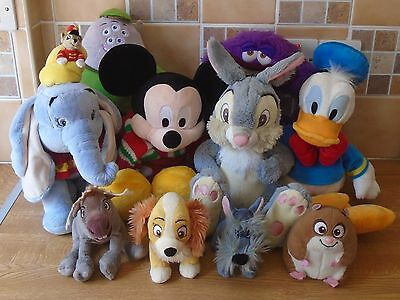 Disney Plush/soft Toys Bundle Monsters Inc, Dumbo, Lady And The Tramp, Thumper
