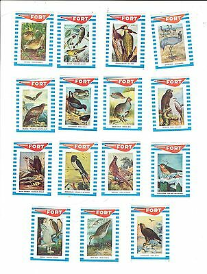 Set of 15 Old Belgium Fort c1960s matchbox labels depicting Birds.