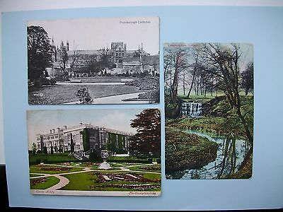 NORTHAMPTONSHIRE - 5 old postcards - Oundle, Castle Ashby, Cottesbrook Park etc
