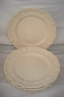 "Set of 4 Royal Cream ware Classics 9.75"" Dinner Plates"