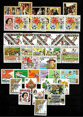 COOK ISLANDS,, 1967-8 MNH selection,, three scans,,  incl. Set to $10.00