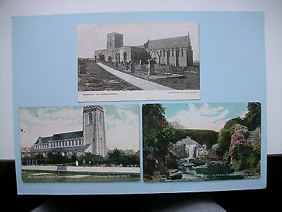 NORTHUMBERLAND - 5 old postcards - Lot A - Gosforth, Felton etc