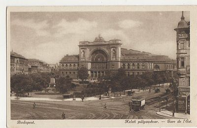 hungary budapest keleti palyaudvar railway station postcard b408 picclick uk. Black Bedroom Furniture Sets. Home Design Ideas