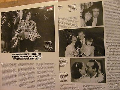 Carol Potter, Beverly Hills 90210, Three Page Vintage Clipping