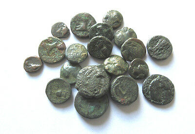 A lot of 20 greek Ae-coins from differnd mints