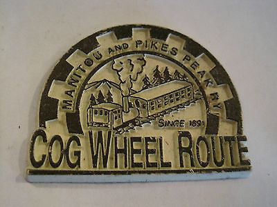 Railroad Magnet Manitou & Pikes Peak Railway Cog Wheel Route 2 inches