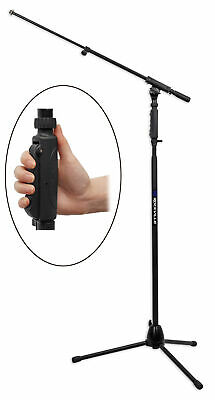 Rockville RVMIC3 Tripod Microphone Stand With Quick Release Hand Clutch & Boom