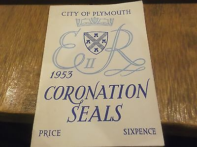 City Of Plymouth Coronation Seals - 10 Stamps Including Hms Vanguard , Mayflower