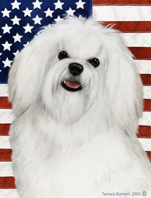 Large Indoor/Outdoor Patriotic II Flag - Maltese Pup 32041