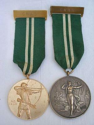 2 Grand National Archery Society Award Medals Dated 1973.