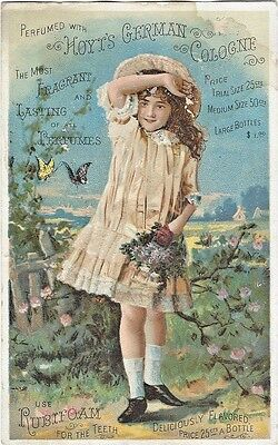 ca.1880's Advertising Trade Card - Hoyt's German Cologne, Rubifoam for the Teeth