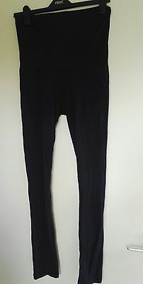 A Pair Of Navy Maternity Leggings - Size M-Jojo Maman Bebe- Vgc!